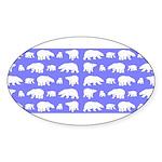 Polar Bear Pattern Sticker