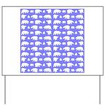 Polar Bear Pattern Yard Sign
