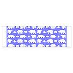 Polar Bear Pattern Bumper Sticker