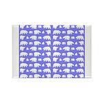 Polar Bear Pattern Magnets