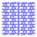 Polar Bear Pattern Square Car Magnet 3