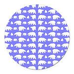 Polar Bear Pattern Round Car Magnet