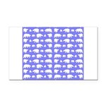 Polar Bear Pattern Rectangle Car Magnet