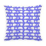 Polar Bear Pattern Everyday Pillow