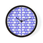 Polar Bear Pattern Wall Clock