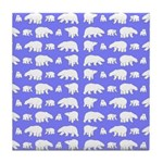 Polar Bear Pattern Tile Coaster