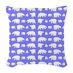 Polar Bear Pattern Woven Throw Pillow
