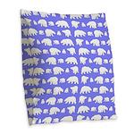 Polar Bear Pattern Burlap Throw Pillow