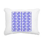 Polar Bear Pattern Rectangular Canvas Pillow