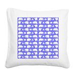Polar Bear Pattern Square Canvas Pillow