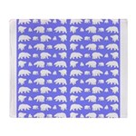 Polar Bear Pattern Throw Blanket