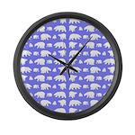 Polar Bear Pattern Large Wall Clock