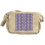 Polar Bear Pattern Messenger Bag