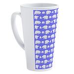 Polar Bear Pattern 17 oz Latte Mug