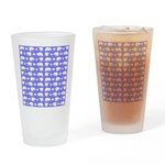 Polar Bear Pattern Drinking Glass