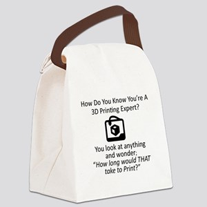 3D Expert Canvas Lunch Bag