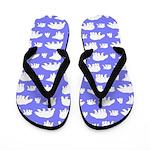 Polar Bear Pattern Flip Flops