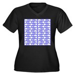 Polar Bear Pattern Plus Size T-Shirt
