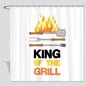 King Of Grill Shower Curtain