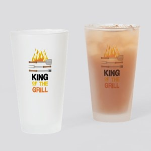 King Of Grill Drinking Glass