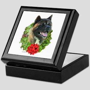 Akita Wreath Keepsake Box
