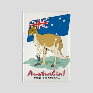Cool Kangaroo Rectangle Magnet