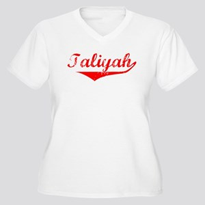 Taliyah Vintage (Red) Women's Plus Size V-Neck T-S
