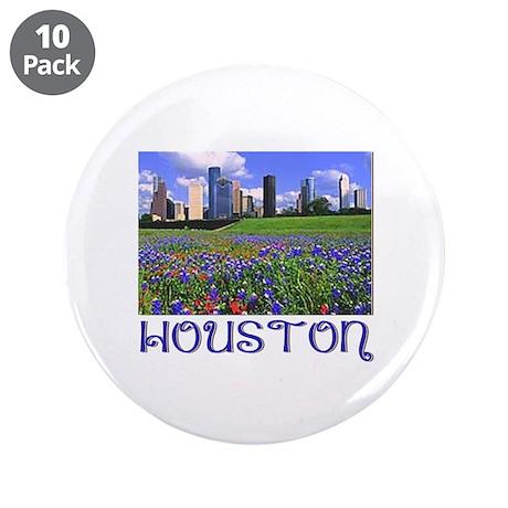 """Houston Bluebonnets 3.5"""" Button (10 pack)"""