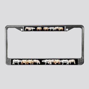 Rhinoceros License Plate Frame