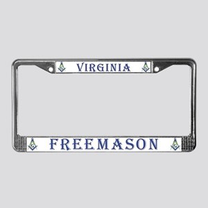 Virginia Free Masons License Plate Frame