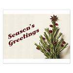 Season's Greetings - Holly Small Poster