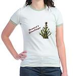Season's Greetings - Holly Jr. Ringer T-Shirt