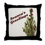 Season's Greetings - Holly Throw Pillow