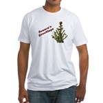 Season's Greetings - Holly Fitted T-Shirt