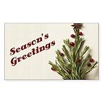 Season's Greetings - Holly Rectangle Sticker