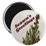 Season's Greetings - Holly Magnet