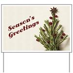 Season's Greetings - Holly Yard Sign