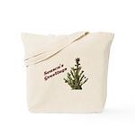 Season's Greetings - Holly Tote Bag