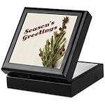 Season's Greetings - Holly Keepsake Box