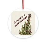Season's Greetings - Holly Ornament (Round)