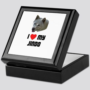 I Love My Jindo Keepsake Box