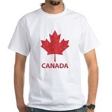 Canada Mens Classic White T-Shirts