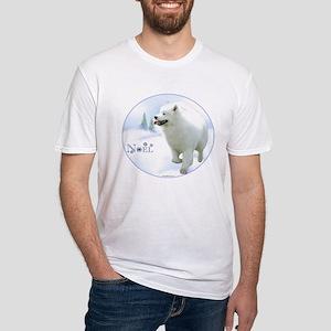 Samoyed Noel Fitted T-Shirt