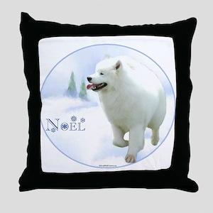 Samoyed Noel Throw Pillow