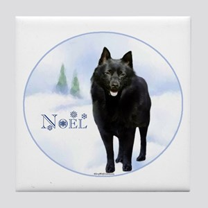 Schipperke Noel Tile Coaster