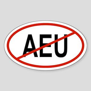 AEU Oval Sticker