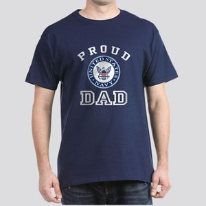 Proud US Navy Dad Dark T-Shirt