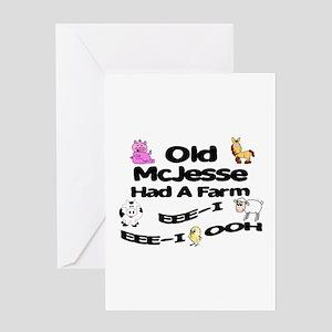 Old McJesse Had a Farm Greeting Card