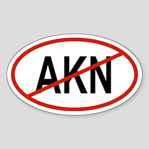 AKN Oval Sticker