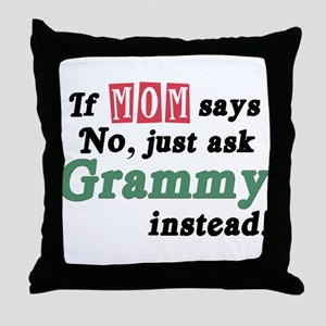 Just Ask Grammy! Throw Pillow